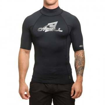 ONeill Short Sleeve Rash Vest Turtleneck Black
