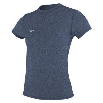 ONeill Womens Hybrid Short Sleeve Sun Tee Mist