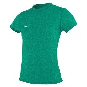 ONeill Womens Hybrid Short Sleeve Sun Tee SeaGlass