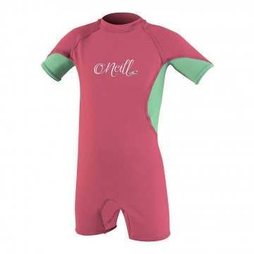 ONeill Toddler OZone UV Sunsuit Foxpink/Mint/Wht