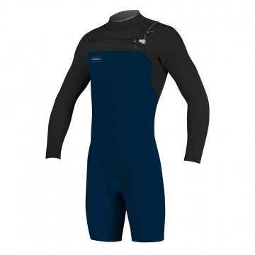 ONeill Hyperfreak 2MM Long Sleeve Shorty Wetsuit Black/Abyss