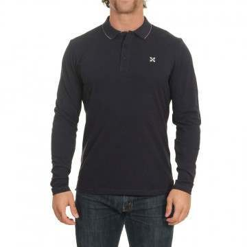 Oxbow Niros Long Sleeve Polo Shirt Marine