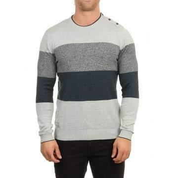 Oxbow Praye Striped Crew Neck Sweater Gris