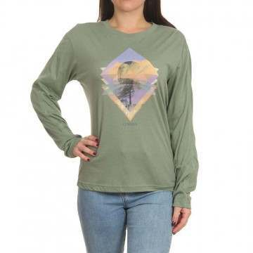 Oneill Kalani Long Sleeve Top Lily Pad