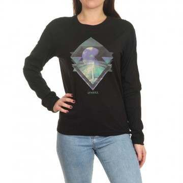 Oneill Kalani Long Sleeve Top Black Out