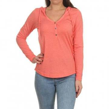 Oneill Marly Long Sleeve Top Deep Sea Coral