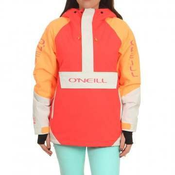 Oneill Original Anorak Snow Jacket Neon Flame