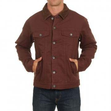 Billabong Barlow Trucker Jacket Rust Brown