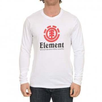 Element Vertical Long Sleeve Top Optic White
