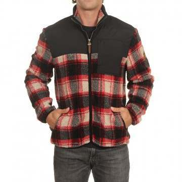 Element Abenaki Fleece Black Red