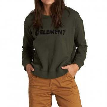Element Logo Crew Olive Drab