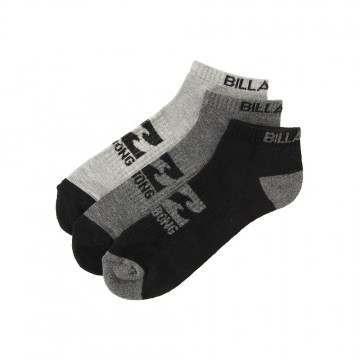 Billabong Ankle 3 Pack Socks Assorted