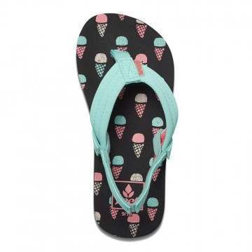 Reef Girls Little Ahi Sandals Ice Cream