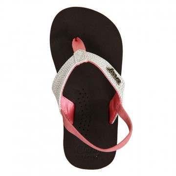 Reef Girls Little Cushion Sandals Brown/Pink