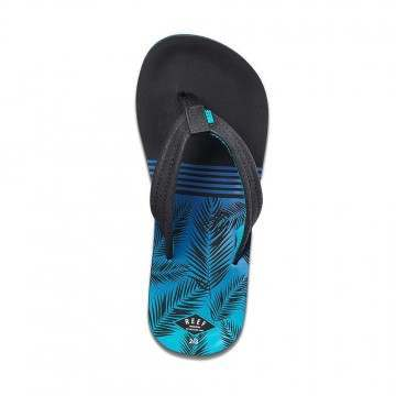 Reef Boys Ahi Sandals Aqua Palms