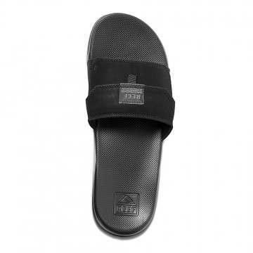 Reef Stash Slide Sandals Black/Black