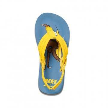 Reef Infant Boys Little Ahi Sandals Surf Sloth