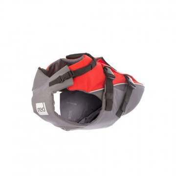 Red Paddle Dog Buoyancy Aid Grey