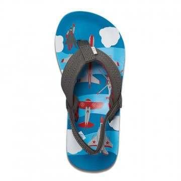 Reef Boys Ahi Sandals Blue Planes