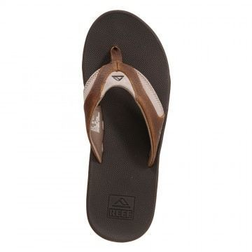 Reef Leather Fanning Sandals Brown/Brown