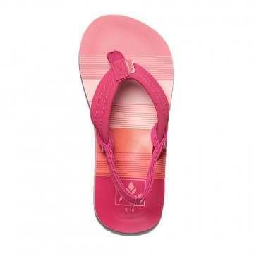 Reef Infant Girls Little Ahi Sandals Pink Stripes
