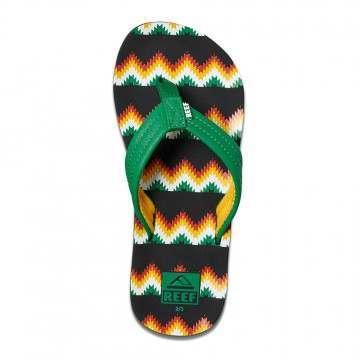 Reef Boys Ahi Sandals Stripe Green