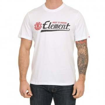 Element Signature Tee Optic White