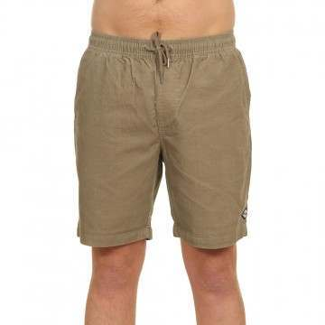 Billabong Larry Layback Cord Shorts Dark Khaki