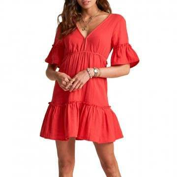 Billabong Lovers Wish Dress Rio Red