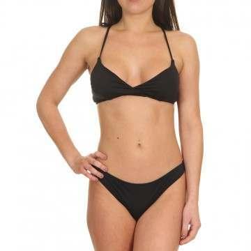 Billabong Paradise Crossed Tri Bikini Top Black