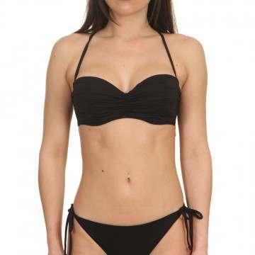 Billabong Sol S Bustier Bikini Top Black Pebble
