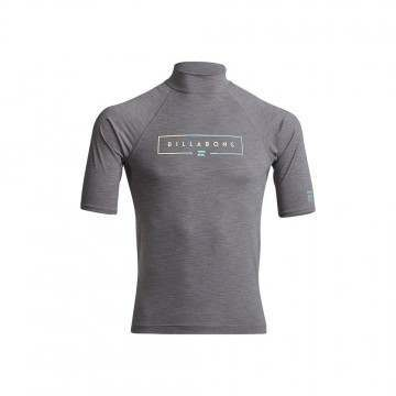 Billabong Unity Short Sleeve Rashvest Grey Heather