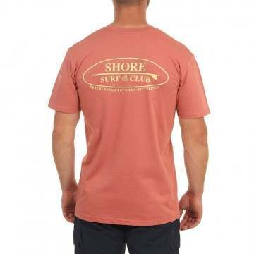 Shore Local Surf Club Tee Coral
