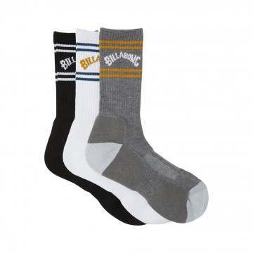 Billabong Arch Crew Socks 3 Pack Mixed