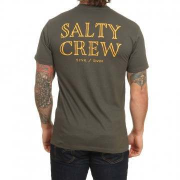 Salty Crew Longhand Tee Tar
