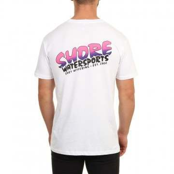 Shore Fade 1997 Logo Tee White Purple/Pink