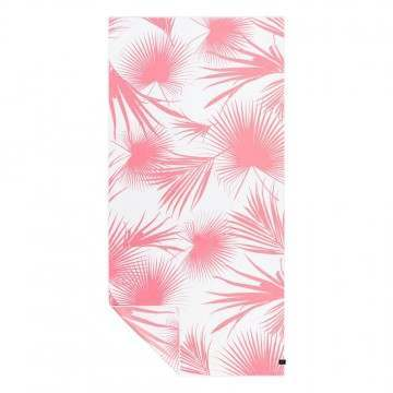 Slowtide Day Palms Travel Towel Pink