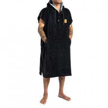 Slowtide The Digs Poncho Changing Towel Black