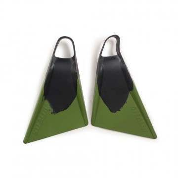 STEALTH MILITARY S2 SWIMFINS BLACK/ARMY GREEN