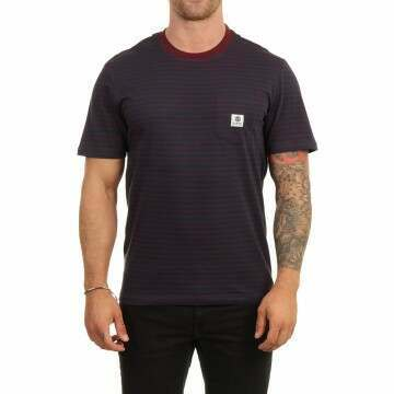 Element Basic Stripes Tee Eclipse Navy