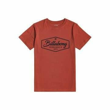 Billabong Boys Trademark Tee Deep Red