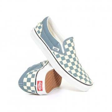 Vans Classic Slip-On Shoes Blue/White Checker