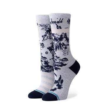 Stance Harbor Crew Socks Grey