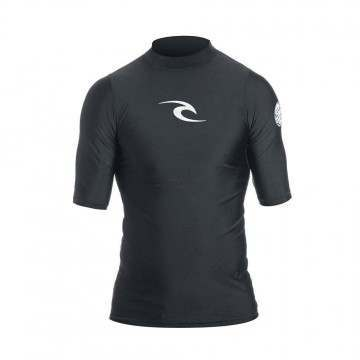 Ripcurl Kids Corpo Short Sleeve Rashvest Black