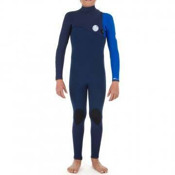 Ripcurl Kids Flashbomb 4/3 Zip Free Wetsuit Blue