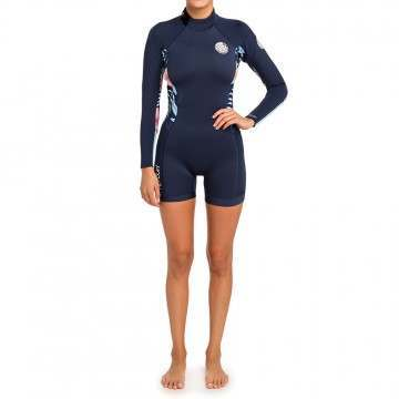 Ripcurl Dawn Patrol Long Sleeve Shorty Wetsuit Nvy