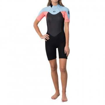 Ripcurl Womens Omega 1.5MM Shorty Wetsuit Pink