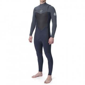 Ripcurl Flashbomb Chest Zip 4/3 Wetsuit Grey