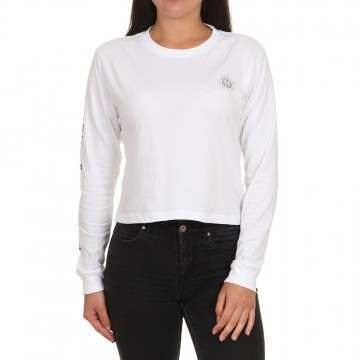 Element Timber Crop Long Sleeve Top White