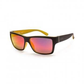 Bloc Riser Sunglasses Matt Black Yellow/Red Revo